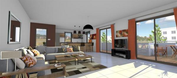 appartement a vendre la tour de salvagny appartement 4 pi ces 100 m. Black Bedroom Furniture Sets. Home Design Ideas